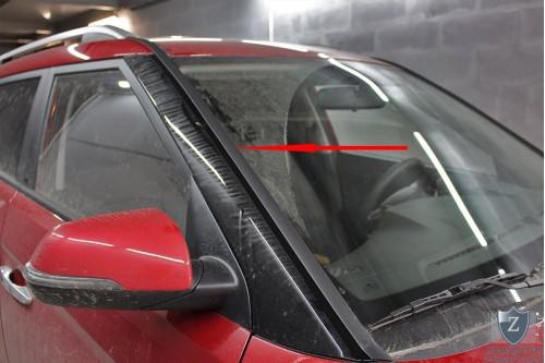 Дефлектор лобового стекла для HYUNDAI CRETA I 2015, 2016, 2017, 2018, 2019, 2020г.в.