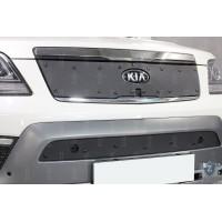 KIA MOHAVE 2017-2020г.в. (I рестайлинг) - Защита радиатора СТАНДАРТ