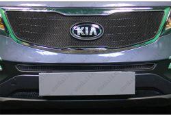 Защита радиатора СТАНДАРТ - KIA SPORTAGE III рестайлинг 2014-2015г.в.