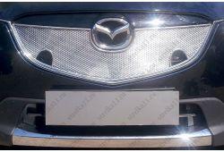 Защита радиатора ПРЕМИУМ - MAZDA CX-5 I 2012-2014г.в. (С парктроником)