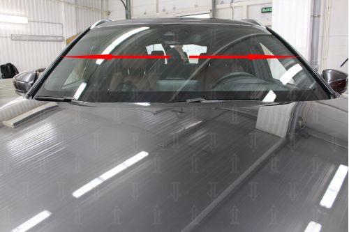 Дефлектор лобового стекла для MAZDA CX-9 II 2015-2019, 2020г.в. (С рейлингом)