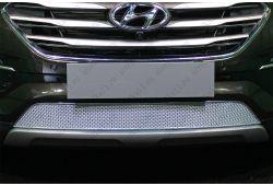 Защита радиатора ПРЕМИУМ - HYUNDAI SANTA FE III рестайлинг 2015-2018г.в.