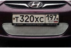 Защита радиатора ПРЕМИУМ - HYUNDAI SOLARIS I 2011-2014г.в.