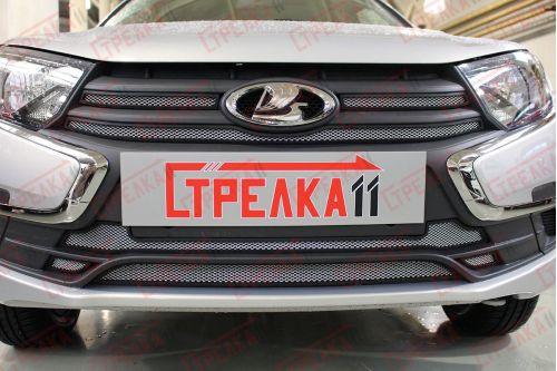 Защита радиатора СТАНДАРТ - LADA GRANTA I рестайлинг 2018-2019г.в.