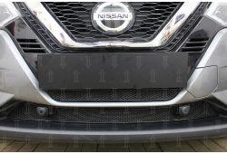 Защита радиатора ПРЕМИУМ - NISSAN QASHQAI II рестайлинг 2018-2020г.в. (с парктроником)