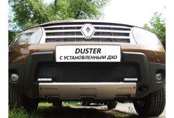 Защита радиатора СТАНДАРТ - RENAULT DUSTER I 2011-2015г.в. (с ДХО)
