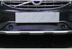 VOLVO XC60 I рестайлинг 2013-2017г.в. (с парктроником) - Защита радиатора ПРЕМИУМ