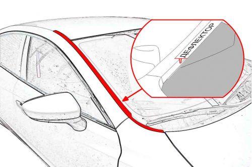 Дефлектор лобового стекла Стрелка-2 LAND ROVER FREELANDER II рестайлинг-2 2012-2014г.в.